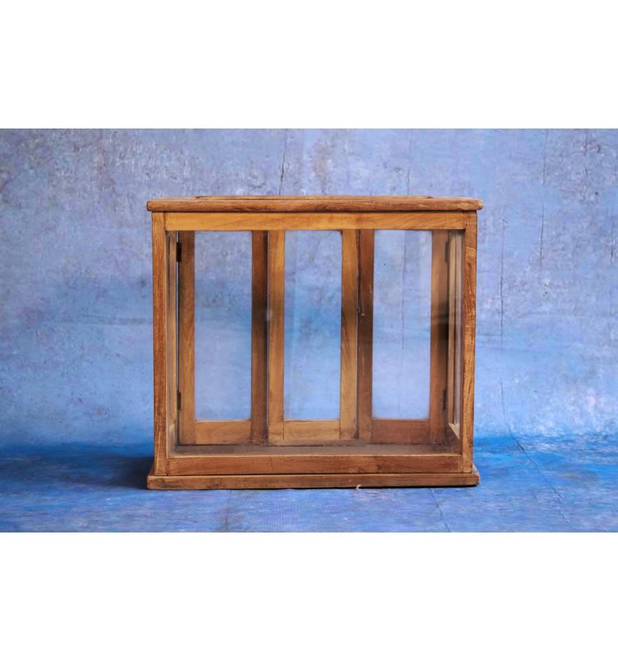vitrine bois vintage industriel. Black Bedroom Furniture Sets. Home Design Ideas