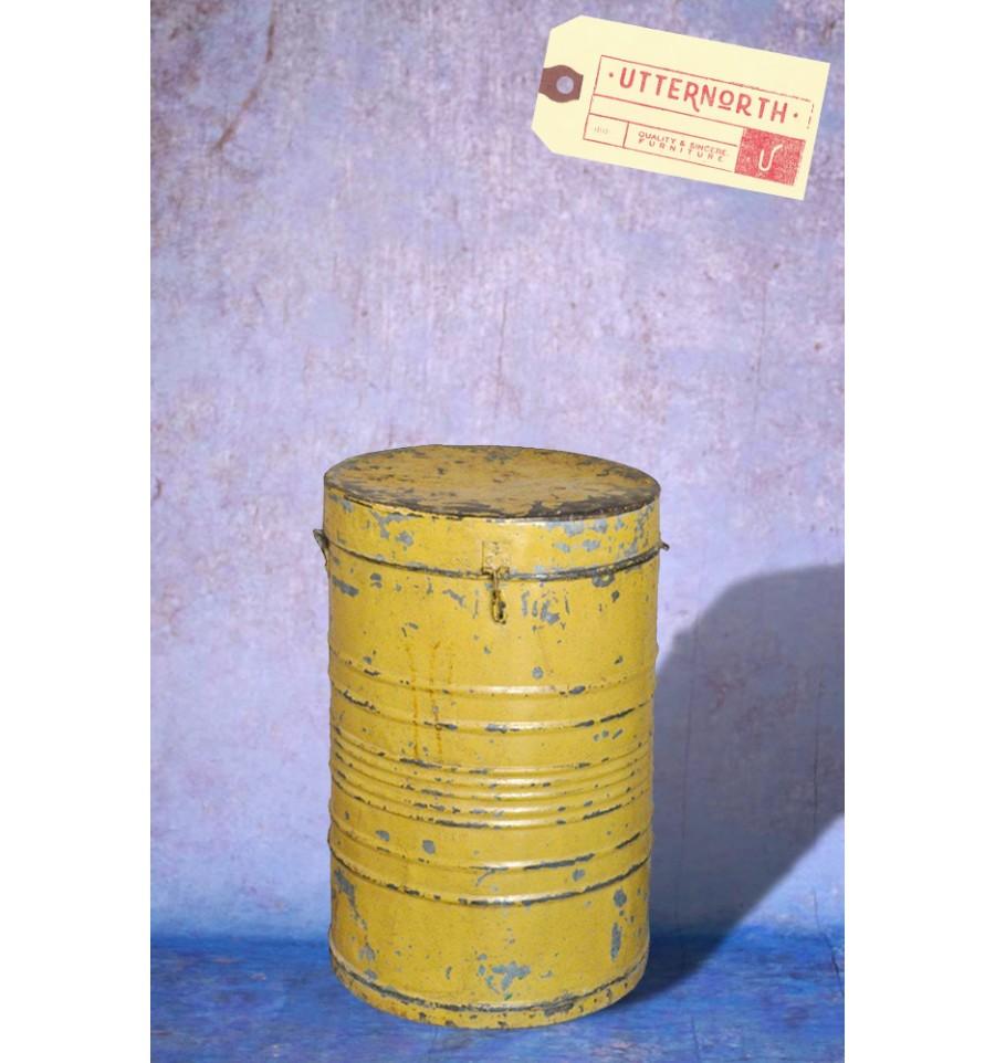 Poubelle m tallique vintage industriel for Poubelle cuisine industriel