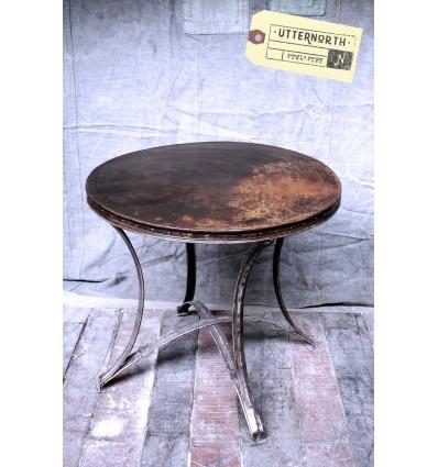 Table Ronde en Acier Vintage Industriel