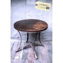 Guéridon / Table Ronde en Acier Vintage Industriel