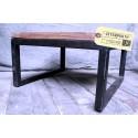 Table Basse en Acier et Bois Vintage Industriel