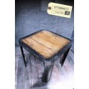 Table en Acier Vintage Industriel