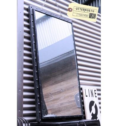 Miroir en Acier Vintage Industriel