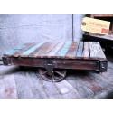 Table Basse Chariot Vintage Industriel