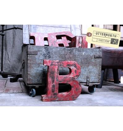 Lettres en Acier Vintage Industriel