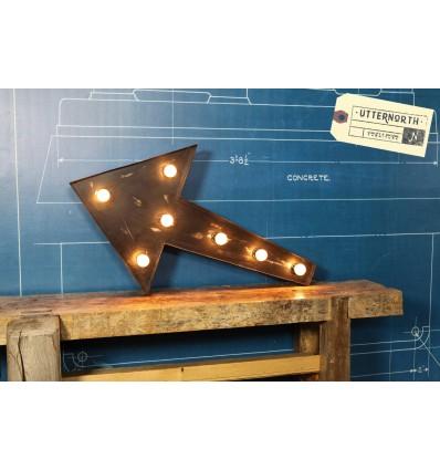 Signe Flèche Lumineux Vintage Industriel
