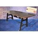 Table Extensible et Acier Vintage Industriel