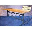 Table en Bois et Acier Vintage Industriel