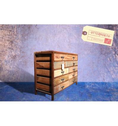 Commode 8 tiroirs Vintage Industriel