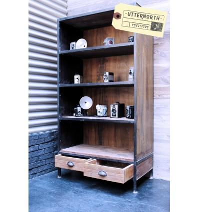 Étagère 2 tiroirs Vintage Industriel
