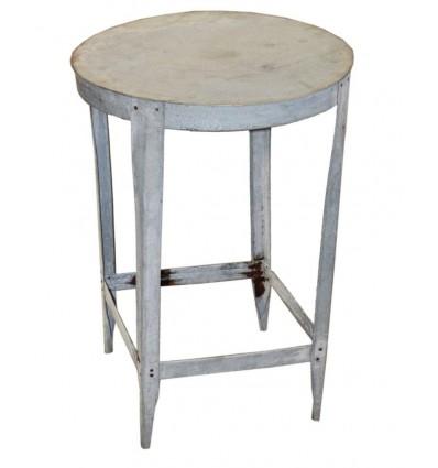 Guéridon en acier / Table Manivelle Vintage Industriel