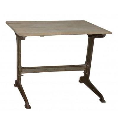 Petite table / Guéridon en acier galvanisé Vintage Industriel