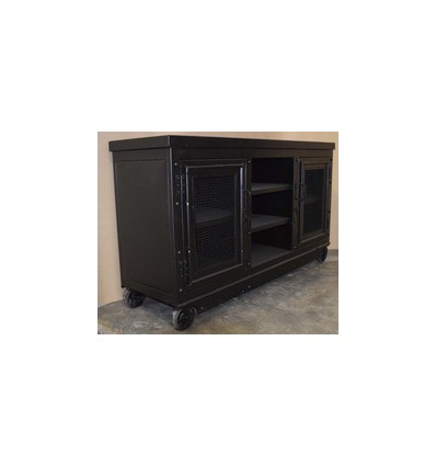meuble tv buffet en acier vintage industriel. Black Bedroom Furniture Sets. Home Design Ideas