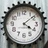 PENDULE MURALE Vintage Industriel Ronde