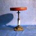 Tabouret Assise Cuir Vintage Industriel
