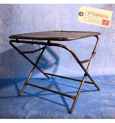Table Pliante Tube Acier Vintage Industriel