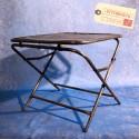 Table Pliante Tube Acier Vintage Industriel
