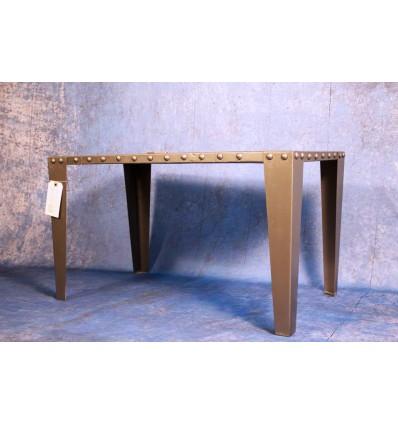 Table Basse Acier riveté Vintage Industriel