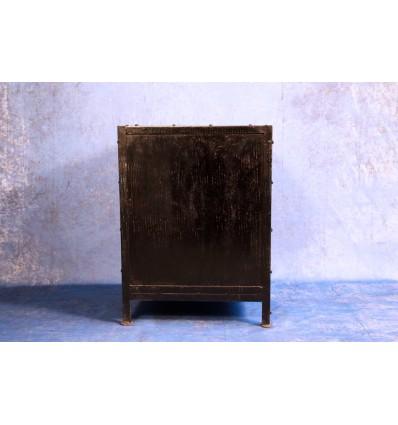 Table de nuit / meuble d'apppoint façon container Vintage Industriel