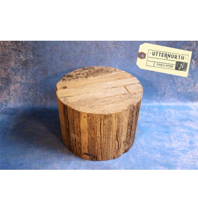 Table Basse Bois Vintage Industriel