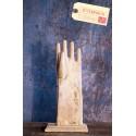 Forme Gant Blanc Vintage Industriel