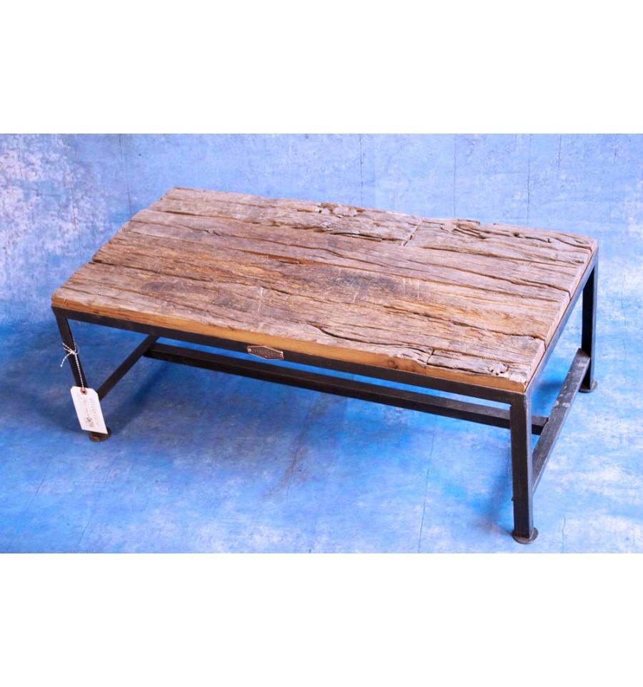 Table Basse Bois Brut Vintage Industriel