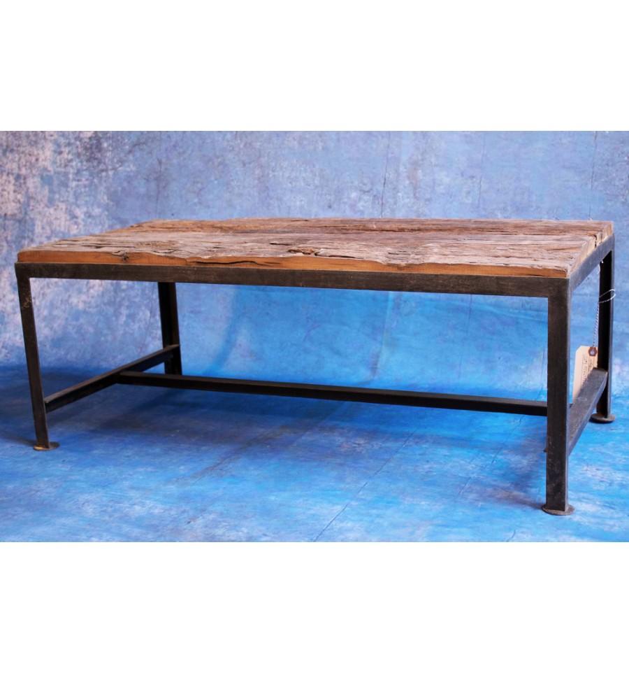 table basse bois brut vintage industriel. Black Bedroom Furniture Sets. Home Design Ideas