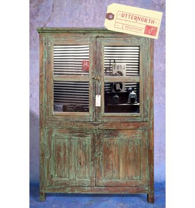 Armoire vitrée en bois Vintage Industriel