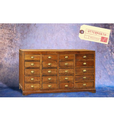 Commode en bois 20 tiroirs Vintage Industriel