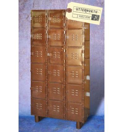 Armoire multi-portes en acier Vintage Industriel