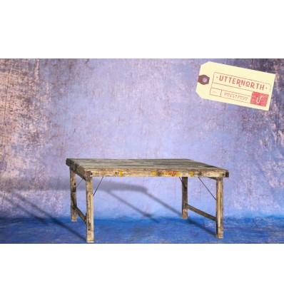 Table pliante en bois Vintage Industriel