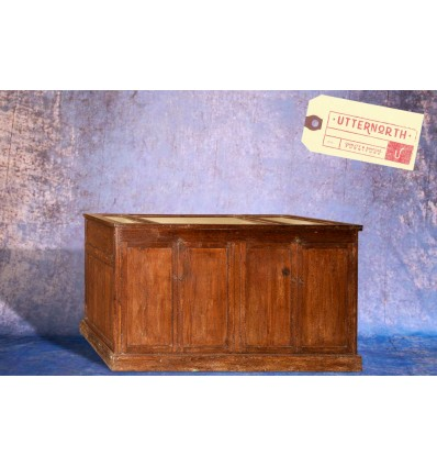 Grande Vitrine en bois Vintage Industriel