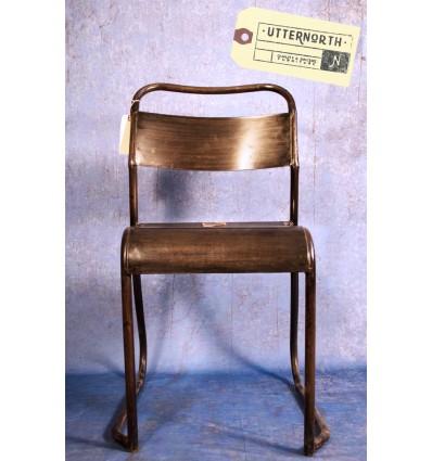 Chaise en Acier Vintage Industriel