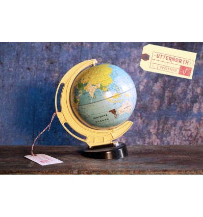 Petite Mappemonde Vintage Industriel